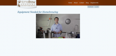 Screen capture from one of the videos inside the Homebrew Academy